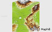 Physical Panoramic Map of Cesar