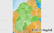 Political Shades Map of Cordoba