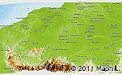 Physical Panoramic Map of Cordoba