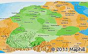 Political Shades Panoramic Map of Cordoba