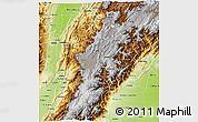 Physical 3D Map of Cundinamarca