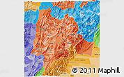 Political Shades 3D Map of Cundinamarca