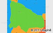 Political Simple Map of La Calera