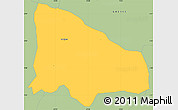 Savanna Style Simple Map of La Calera