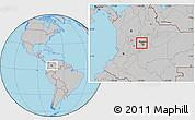 Gray Location Map of Madrid