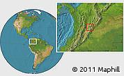Satellite Location Map of Madrid