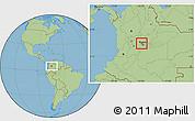 Savanna Style Location Map of Madrid
