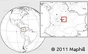 Blank Location Map of Manta