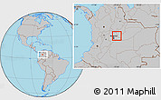 Gray Location Map of Manta