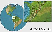 Satellite Location Map of Manta