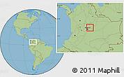 Savanna Style Location Map of Manta