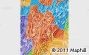 Political Shades Map of Cundinamarca