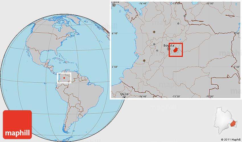Gray Location Map of Medina