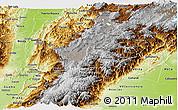 Physical Panoramic Map of Cundinamarca