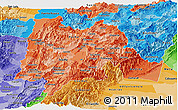 Political Shades Panoramic Map of Cundinamarca