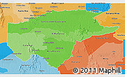 Political Shades 3D Map of Guaviare