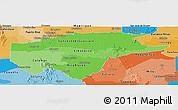 Political Shades Panoramic Map of Guaviare