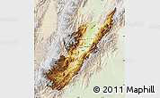 Physical Map of Huila, lighten