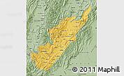 Savanna Style Map of Huila