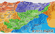 Political Shades Panoramic Map of Huila