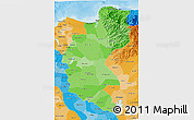 Political Shades 3D Map of Magdalena