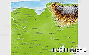 Physical Panoramic Map of Magdalena