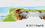 Physical Panoramic Map of Santa Marta (Dist. Esp.)