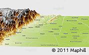 Physical Panoramic Map of Cumaral