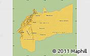 Savanna Style Map of Meta, single color outside