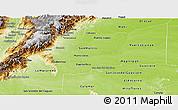 Physical Panoramic Map of Meta