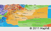 Political Shades Panoramic Map of Meta