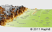 Physical Panoramic Map of Restrepo