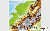 Physical 3D Map of Narino