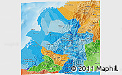 Political Shades 3D Map of Narino