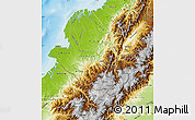 Physical Map of Narino