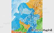 Political Shades Map of Narino