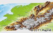 Physical Panoramic Map of Narino