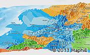Political Shades Panoramic Map of Narino
