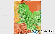 Political Shades 3D Map of Norte de Santander
