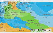 Political Shades 3D Map of Putumayo