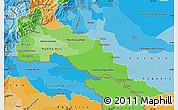Political Shades Map of Putumayo