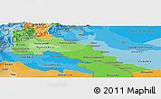 Political Shades Panoramic Map of Putumayo