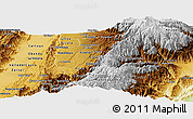 Physical Panoramic Map of Quindio