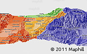 Political Shades Panoramic Map of Quindio