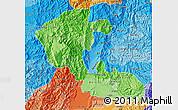 Political Shades Map of Risaralda