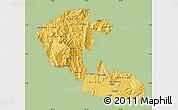 Savanna Style Map of Risaralda, single color outside
