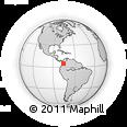 Outline Map of Risaralda