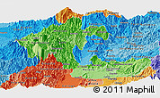 Political Shades Panoramic Map of Risaralda