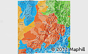 Political Shades 3D Map of Santander