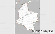 Gray Simple Map of Colombia, cropped outside